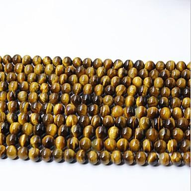 olcso Gyöngyök-DIY ékszerek 65 db Perlice Kristály Sárga Kör üveggyöngy 0.6 cm DIY Nyakláncok Karkötők