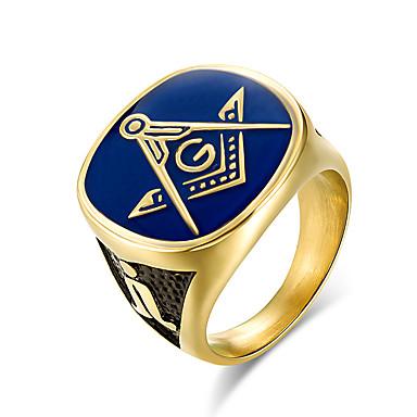 ieftine Inele-Band Ring Inele de liceu Auriu Oțel titan Titan Oțel Clasă Modă Militar Armată 8 9 10 11 12 / Bărbați