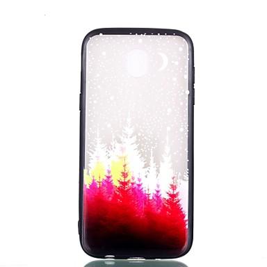 voordelige Galaxy J-serie hoesjes / covers-hoesje Voor Samsung Galaxy J7 (2017) / J5 (2017) / J3 (2017) Transparant / Reliëfopdruk / Patroon Achterkant Boom Hard PC