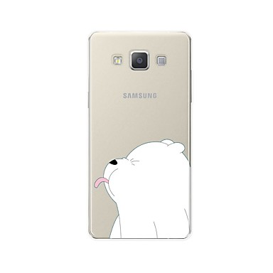رخيصةأون حافظات / جرابات هواتف جالكسي A-غطاء من أجل Samsung Galaxy A3 (2017) / A5 (2017) / A7 (2017) نموذج غطاء خلفي حيوان / كارتون ناعم TPU