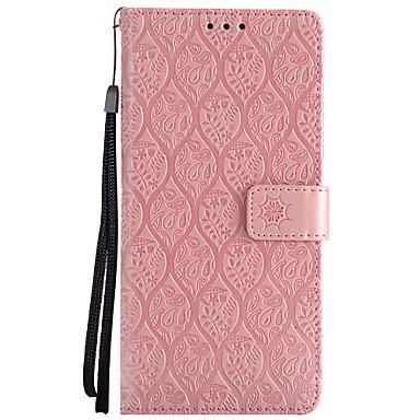 voordelige Galaxy Note-serie hoesjes / covers-hoesje Voor Samsung Galaxy Note 8 / Note 4 / Note 3 Portemonnee / Kaarthouder / met standaard Volledig hoesje Bloem Hard PU-nahka