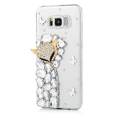 Недорогие Чехлы и кейсы для Galaxy S-Кейс для Назначение SSamsung Galaxy S8 Plus / S8 / S7 edge Стразы / С узором Кейс на заднюю панель Животное Твердый Акрил