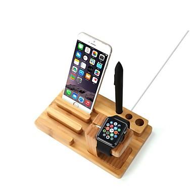 Недорогие Крепления и держатели для Apple Watch-Apple Watch iPhone 7 Plus Стенд с адаптером Other Бамбук Стол