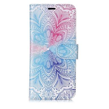 voordelige Galaxy S-serie hoesjes / covers-hoesje Voor Samsung Galaxy S8 Plus / S8 / S7 edge Portemonnee / Kaarthouder / Flip Volledig hoesje Mandala Hard PU-nahka