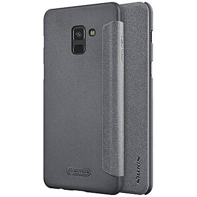 رخيصةأون حافظات / جرابات هواتف جالكسي A-Nillkin غطاء من أجل Samsung Galaxy A8 Plus 2018 / A8 2018 قلب / مثلج لون سادة قاسي إلى