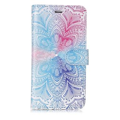 Недорогие Кейсы для iPhone 7 Plus-Кейс для Назначение Apple iPhone X / iPhone 8 Pluss / iPhone 8 Кошелек / Бумажник для карт / Флип Чехол Мандала / Цветы Твердый Кожа PU