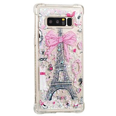 abordables Fundas / Carcasas para Galaxy Note-Funda Para Samsung Galaxy Note 8 Antigolpes / Líquido / Diseños Funda Trasera Torre Eiffel Suave TPU