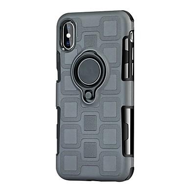voordelige iPhone 6 hoesjes-hoesje Voor Apple iPhone X / iPhone 8 Plus / iPhone 8 Schokbestendig / met standaard / Ringhouder Achterkant Schild Hard TPU