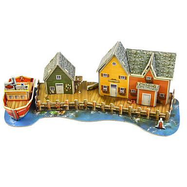 olcso 3D Puzzle-Modeli i makete Építészet Tökéletes Kézzel készített Szülő-gyermek interakció Puha műanyag 1 pcs Kortárs Klasszikus és időtálló Gyermek Felnőttek Játékok Ajándék
