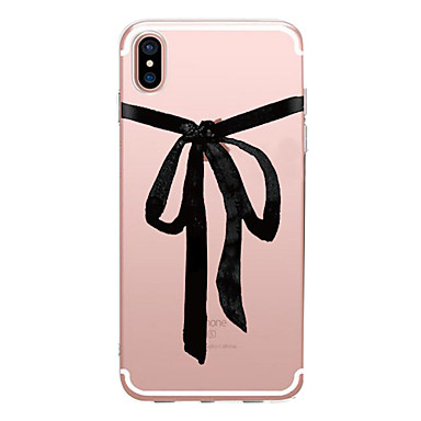 voordelige iPhone-hoesjes-hoesje Voor Apple iPhone X / iPhone 8 Plus / iPhone 8 Transparant / Patroon Achterkant Sexy dame Zacht TPU