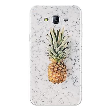 voordelige Galaxy J-serie hoesjes / covers-hoesje Voor Samsung Galaxy J7 (2017) / J7 (2016) / J7 Patroon Achterkant Fruit / Marmer Zacht TPU