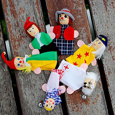 olcso Bábok-Ujjbáb Bábok Szerepjátékok Cuki Szeretetreméltő Plüs 6 pcs Gyermek Lány Játékok Ajándék