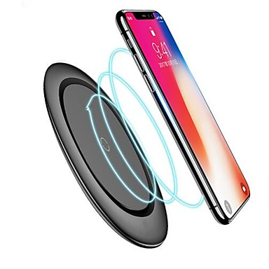 voordelige Elektrische apparatuur & benodigdheden-qi draadloze oplader met kabel voor iphone x xs max xr 8 plus snel opladen voor samsung s8 s9 s10 plus opmerking 9 8 usb telefoon oplader pad