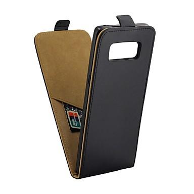voordelige Galaxy Note-serie hoesjes / covers-hoesje Voor Samsung Galaxy Note 8 Kaarthouder / met standaard / Flip Volledig hoesje Effen Hard PU-nahka