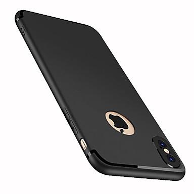 voordelige iPhone-hoesjes-hoesje Voor Apple iPhone X / iPhone 8 Plus / iPhone 8 Mat Achterkant Effen Zacht TPU