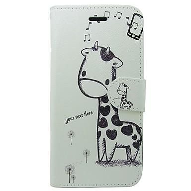 Недорогие Кейсы для iPhone-Кейс для Назначение Apple iPhone 8 Pluss / iPhone 8 Кошелек / Бумажник для карт / со стендом Чехол Животное / Мультипликация Твердый Кожа PU