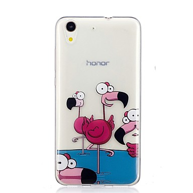 hoesje Voor Huawei Huawei Y6 II / Honor Holly 3 / Huawei Y5 II / Honor 5 / Nova Patroon Achterkant Flamingo Zacht TPU