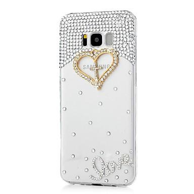 voordelige Galaxy S-serie hoesjes / covers-hoesje Voor Samsung Galaxy S8 Plus / S8 / S7 edge Strass / Patroon Achterkant Hart Hard Acryl