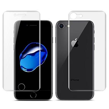 voordelige iPhone 8 screenprotectors-AppleScreen ProtectoriPhone 8 3D gebogen rand Voorkant- & achterkantbescherming 2 pcts TPU Hydrogel