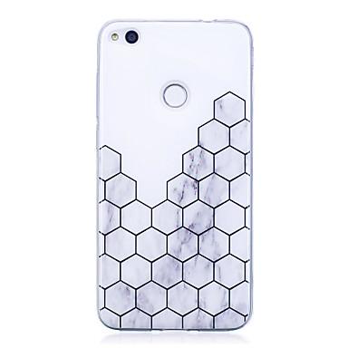 voordelige Huawei Mate hoesjes / covers-hoesje Voor Huawei P9 Lite / Huawei / Huawei P8 Lite P10 / Huawei P9 Lite / P8 Lite (2017) IMD / Patroon Achterkant Geometrisch patroon / Marmer Zacht TPU