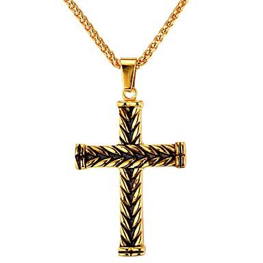 Herr Hänge Halsband Rostfritt stål Kors Vintage Guld Silver Halsband Smycken  1 Till Dagligen Street 6507050 2019 – €16.99 d0abbd05e0b76