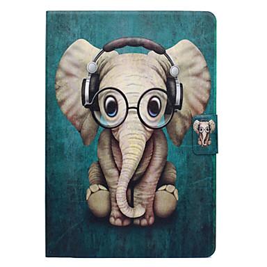 رخيصةأون أغطية أيباد-غطاء من أجل Apple iPad Air / iPad 4/3/2 / iPad Pro 10.5 حامل البطاقات / مع حامل / قلب غطاء كامل للجسم حيوان / فيل قاسي جلد PU