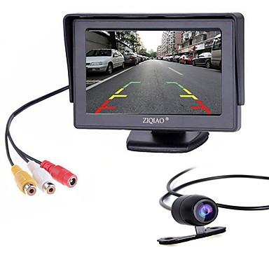 Недорогие Камеры заднего вида для авто-ziqiao 4,3-дюймовый монитор и камера заднего вида для автомобиля hd