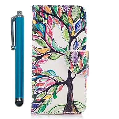 غطاء من أجل Samsung Galaxy A3 (2017) / A5 (2017) / A7 (2017) محفظة / حامل البطاقات / مع حامل غطاء كامل للجسم شجرة قاسي جلد PU