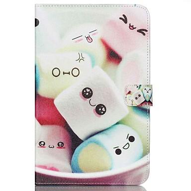 رخيصةأون حالة سامسونج اللوحي-غطاء من أجل Samsung Tab E 9.6 محفظة / حامل البطاقات / مع حامل غطاء كامل للجسم كارتون قاسي جلد PU