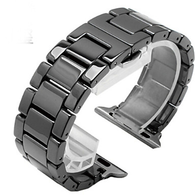 voordelige Smartwatch-accessoires-Horlogeband voor Apple Watch Series 5/4/3/2/1 Apple Butterfly Buckle Keramiek Polsband