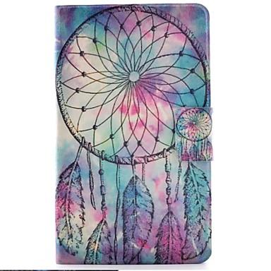 olcso Galaxy Tab 3 Lite tokok-Case Kompatibilitás Samsung Galaxy Tab 3 Lite Kártyatartó / Állvánnyal / Flip Héjtok Álomfogó Kemény PU bőr
