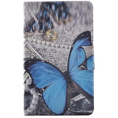 voordelige Samsung Tab-serie hoesjes / covers-hoesje Voor Samsung Galaxy Tab E 9.6 Kaarthouder / met standaard / Flip Volledig hoesje Vlinder Hard PU-nahka
