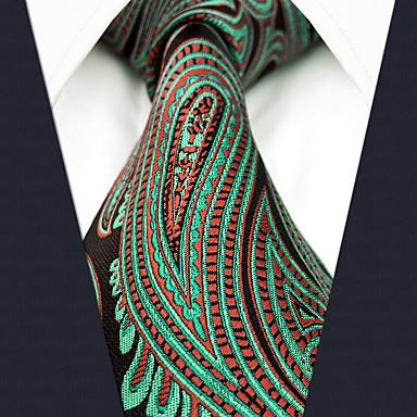 رخيصةأون ربطات العقدة-ربطة العنق ألوان متناوبة / زخرفات / خملة الجاكوارد رجالي عمل / أساسي