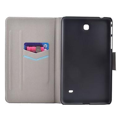voordelige Samsung Tab-serie hoesjes / covers-hoesje Voor Samsung Galaxy Tab 4 7.0 Kaarthouder / met standaard / Flip Volledig hoesje Woord / tekst Hard PU-nahka
