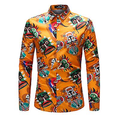رخيصةأون قمصان رجالي-رجالي بوهو قميص, قوس قزح / كم طويل