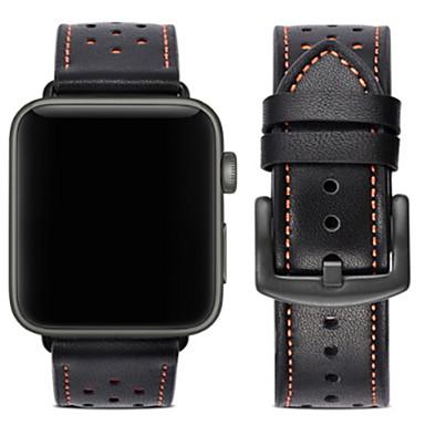 Недорогие Аксессуары для смарт-часов-Ремешок для часов для Apple Watch Series 4/3/2/1 Apple Современная застежка Натуральная кожа Повязка на запястье