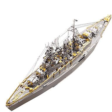olcso gyerekek Puzzle-3D építőjátékok / Fém építőjátékok Katonai / Vadászgép Fémes / Rozsdamentes acél 1 pcs Csónak Gyermek / Felnőttek Ajándék