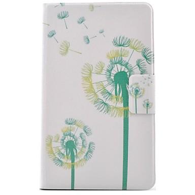 voordelige Samsung Tab-serie hoesjes / covers-hoesje Voor Samsung Galaxy Tab 3 Lite Kaarthouder / met standaard / Flip Volledig hoesje Paardebloem Hard PU-nahka