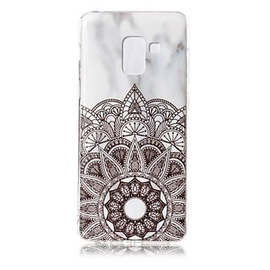 رخيصةأون حافظات / جرابات هواتف جالكسي A-غطاء من أجل Samsung Galaxy A8 2018 IMD / نموذج غطاء خلفي حجر كريم ناعم TPU