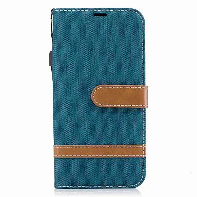 voordelige Galaxy J-serie hoesjes / covers-hoesje Voor Samsung J5 (2017) / J5 (2016) / J3 (2017) Portemonnee / Kaarthouder / Schokbestendig Volledig hoesje Effen Hard tekstiili