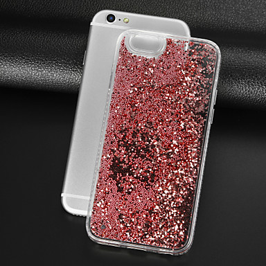voordelige iPhone 6 Plus hoesjes-hoesje Voor Apple iPhone 8 Plus / iPhone 8 / iPhone 7 Plus Strass / Stromende vloeistof / Transparant Achterkant Glitterglans Hard PC