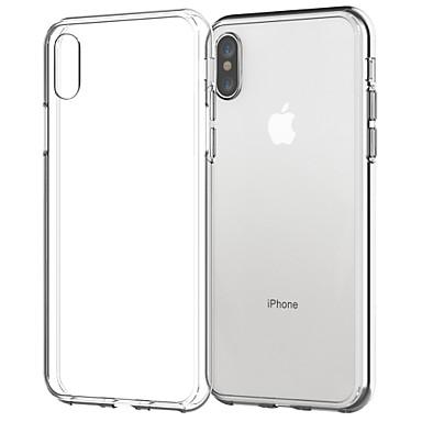 Θήκη Za Apple iPhone X / iPhone 8 Plus / iPhone 8 Prozirno Stražnja maska Jednobojni Mekano TPU
