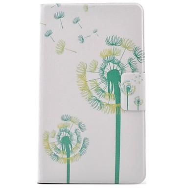 voordelige Samsung Tab-serie hoesjes / covers-hoesje Voor Samsung Galaxy Tab 4 7.0 Kaarthouder / met standaard / Flip Volledig hoesje Paardebloem Hard PU-nahka