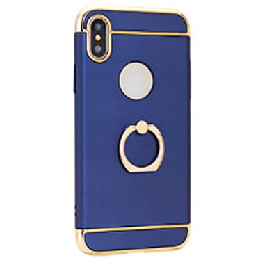 voordelige iPhone-hoesjes-hoesje Voor Apple iPhone X / iPhone 8 Plus / iPhone 8 Beplating / Ringhouder / Ultradun Achterkant Effen Hard PC