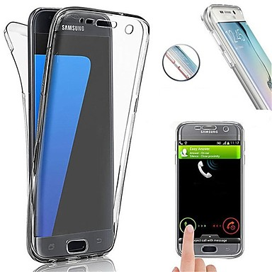 غطاء من أجل Samsung Galaxy S8 Plus / S8 / S7 edge ضد الصدمات / نحيف جداً غطاء كامل للجسم لون سادة ناعم TPU
