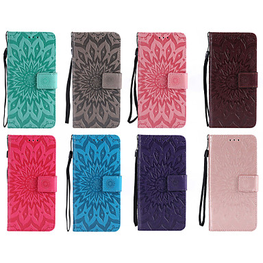 Недорогие Чехлы и кейсы для LG-Кейс для Назначение LG LG X Power / LG V30 / LG V20 Кошелек / Бумажник для карт / со стендом Чехол Мандала Твердый Кожа PU / LG G6