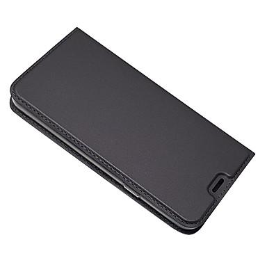 رخيصةأون LG أغطية / كفرات-غطاء من أجل LG LG Q6 حامل البطاقات / مع حامل غطاء كامل للجسم لون سادة قاسي جلد PU