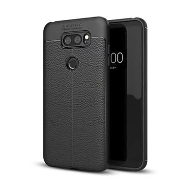 Недорогие Чехлы и кейсы для LG-Кейс для Назначение LG LG V30 / LG V30+ / LG Q6 Защита от удара Кейс на заднюю панель Однотонный Мягкий ТПУ / LG G6
