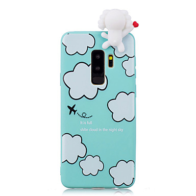 Недорогие Чехлы и кейсы для Galaxy S-Кейс для Назначение SSamsung Galaxy S9 / S9 Plus / S8 Plus Защита от удара / С узором / Своими руками Кейс на заднюю панель Мультипликация / 3D в мультяшном стиле Мягкий ТПУ
