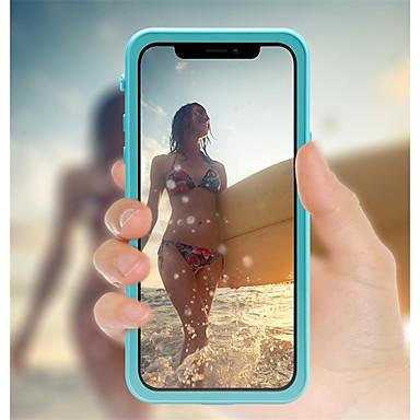 voordelige iPhone-hoesjes-hoesje Voor Apple iPhone X / iPhone 8 Plus / iPhone 8 Waterbestendig / Schokbestendig / Doorzichtig Volledig hoesje Effen Hard Muovi